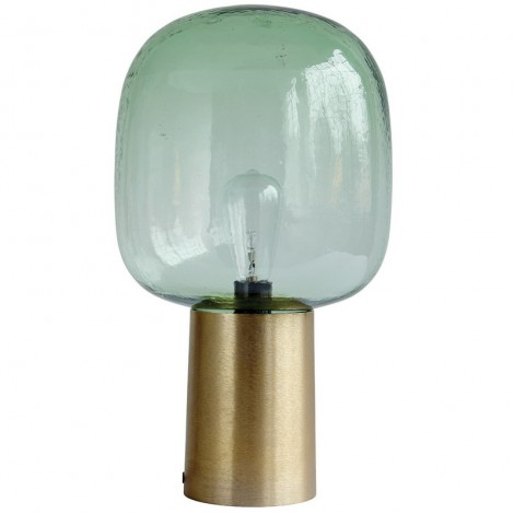 Image of   Note lampe (grøn/messing)