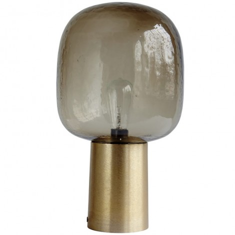 Image of   Note lampe (grå/messing)