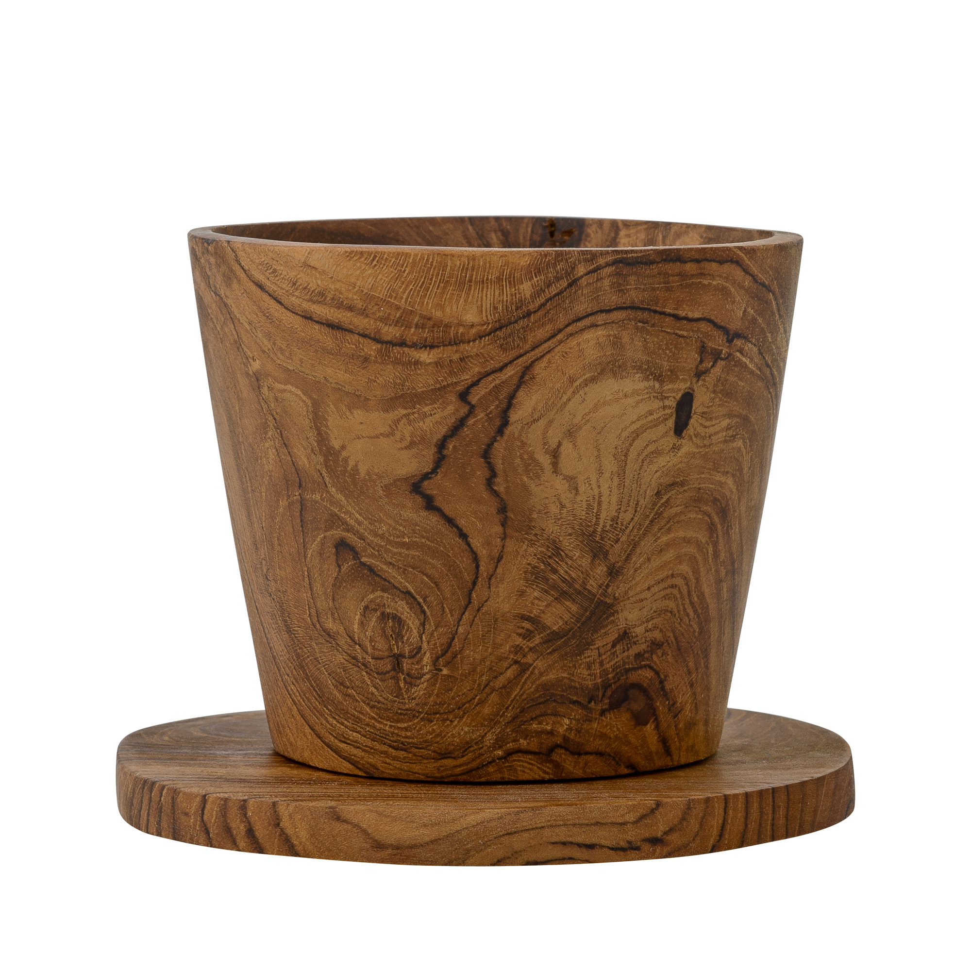 Image of   Cup w/coaster, teak