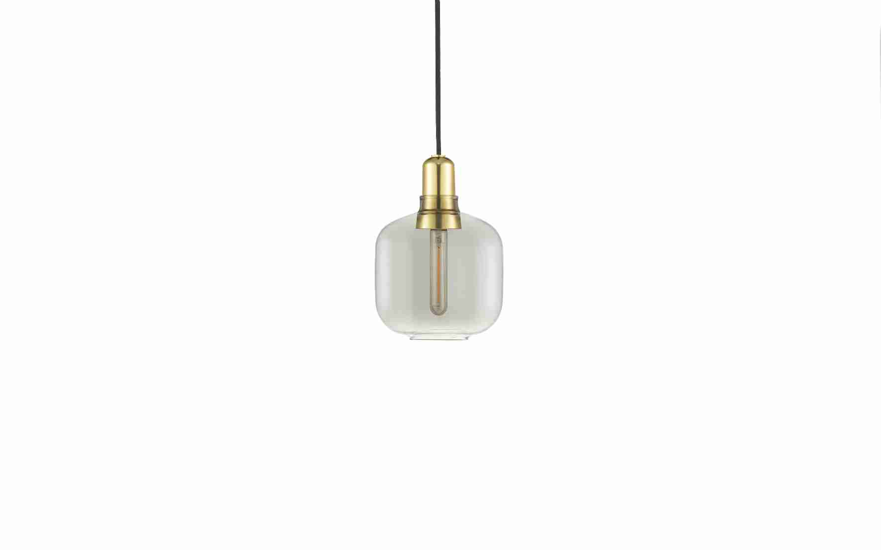 Image of   Norman copenhagen amp lampe lille messing (smoke/messing)