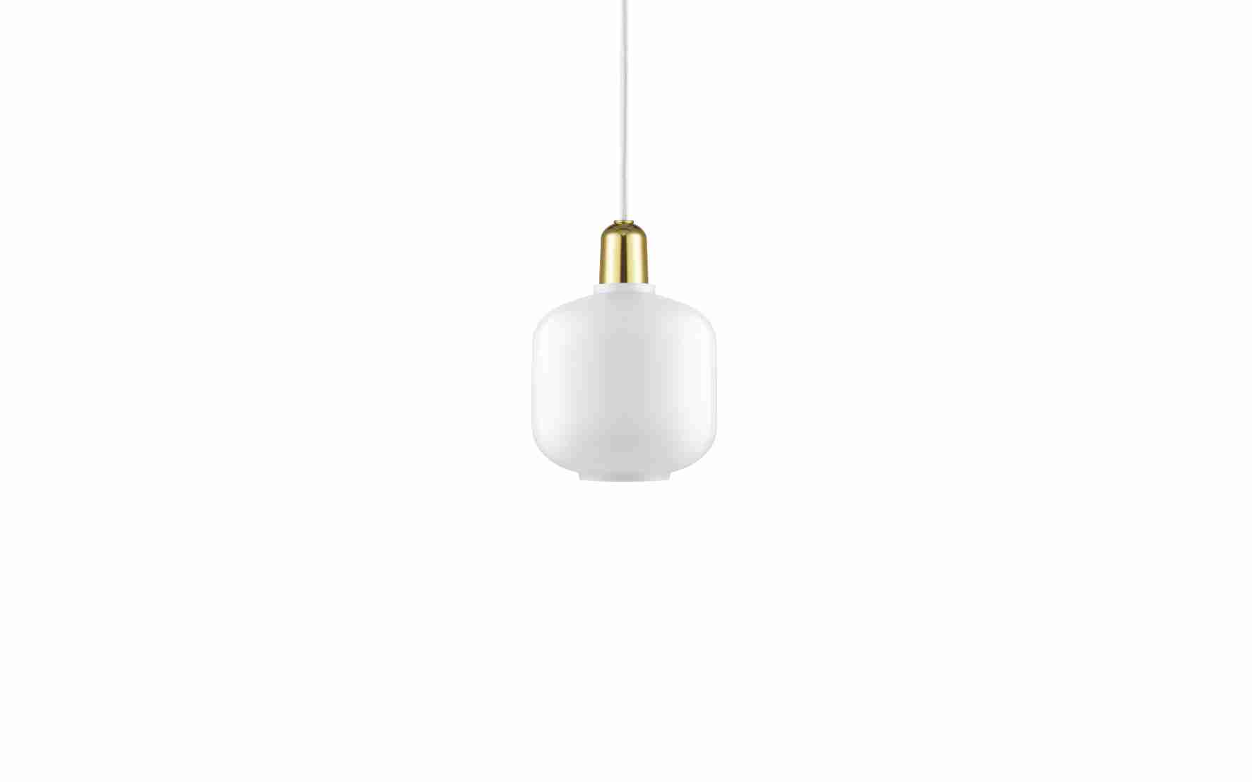 Image of   Norman copenhagen amp lampe lille messing (hvid/messing)