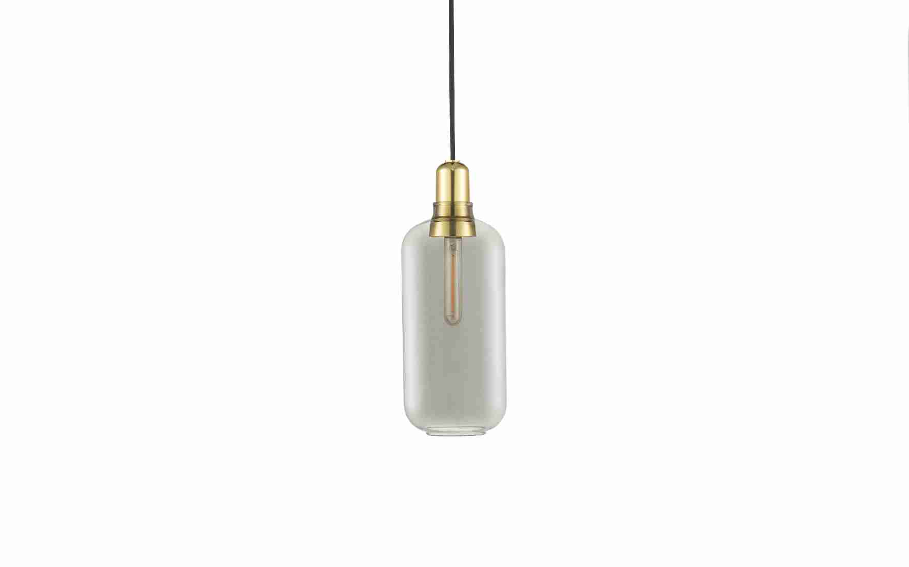 Image of   Norman copenhagen amp lampe stor messing (smoke/messing)