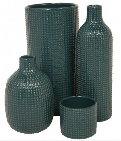 Image of   Vase chubby dotty (petroleum)