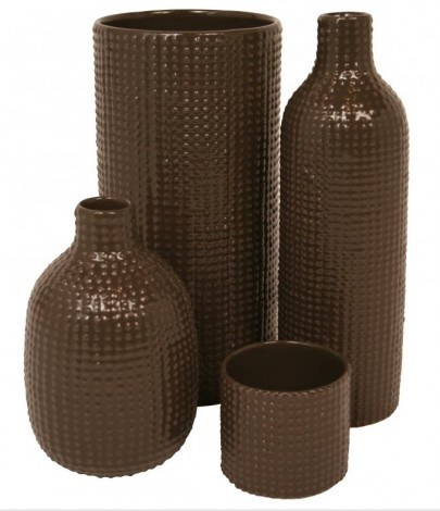 Image of   Vase tall dotty (brun)