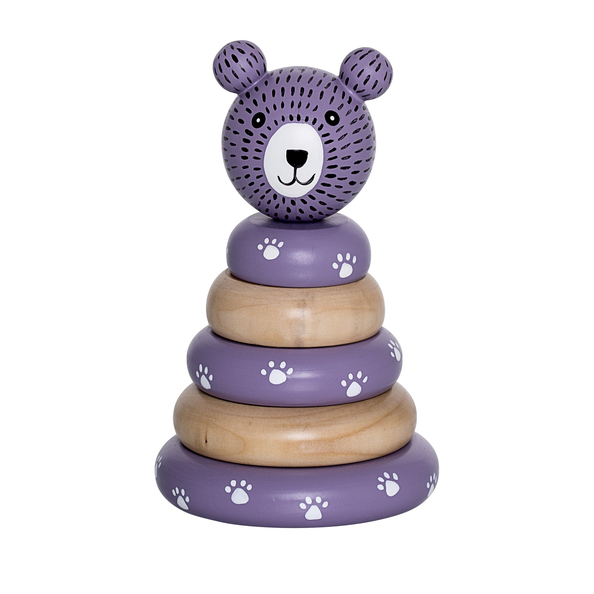 Image of   Stacking toy, nature/moon purple