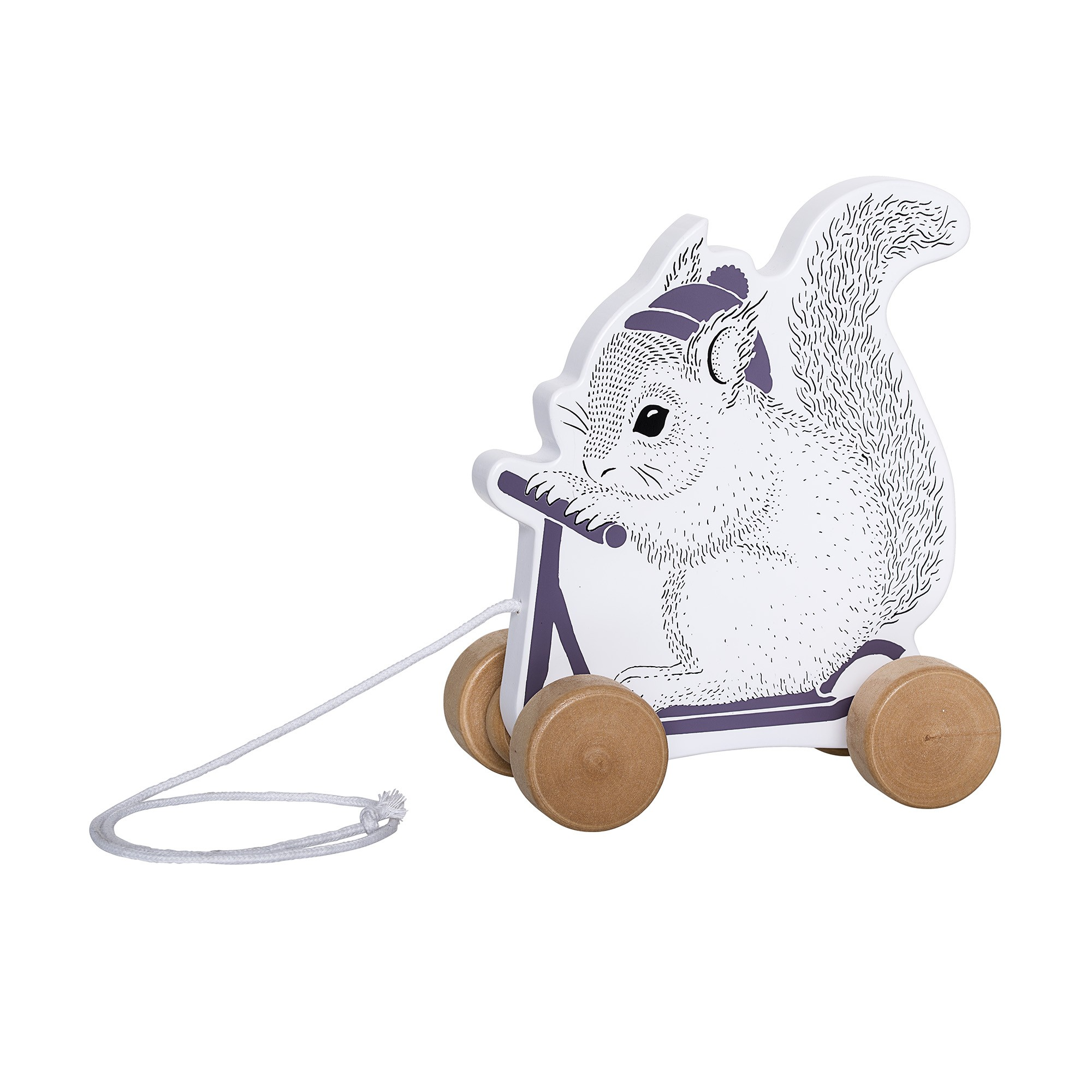 Image of   Pull along toy, white