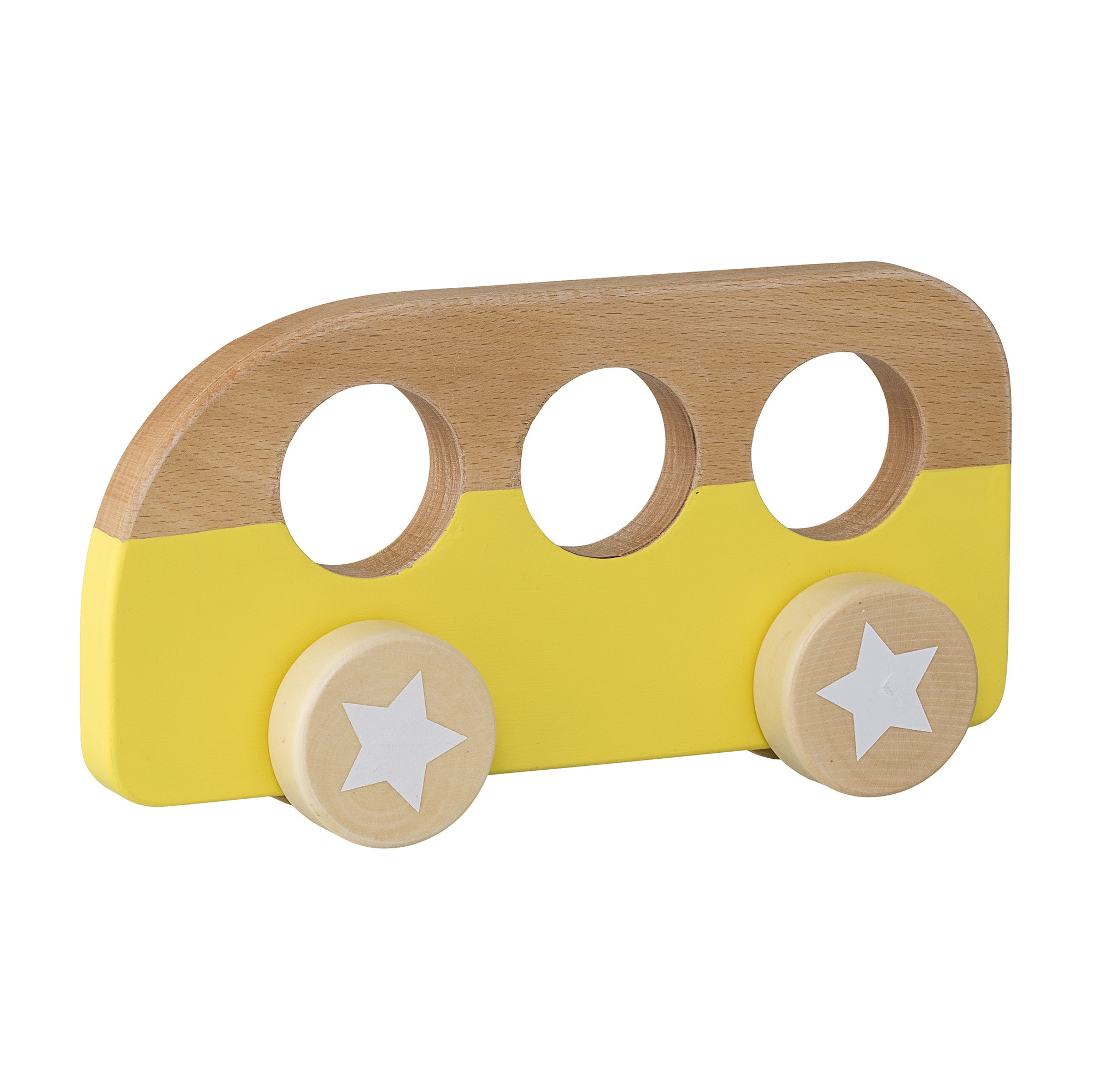 Image of   Toy car, yellow, beech