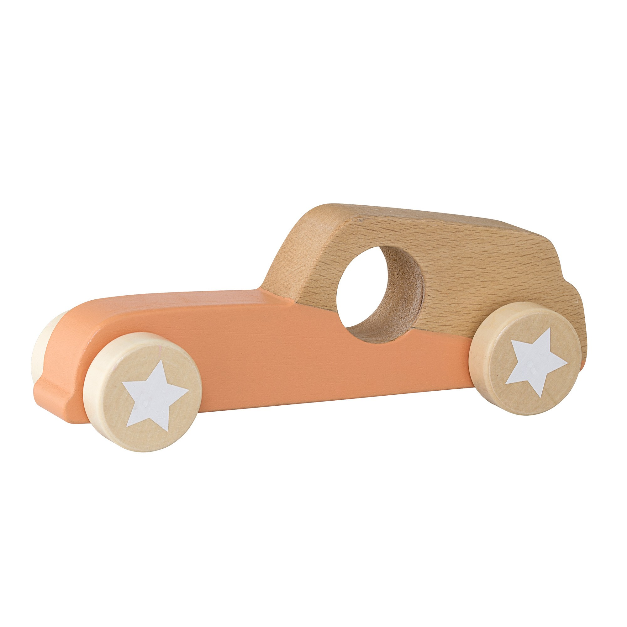 Image of   Toy car, orange, beech