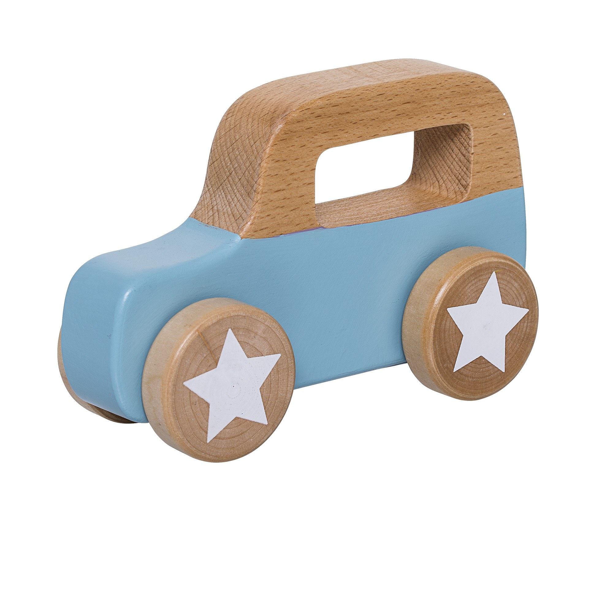 Image of   Toy car, blue, beech
