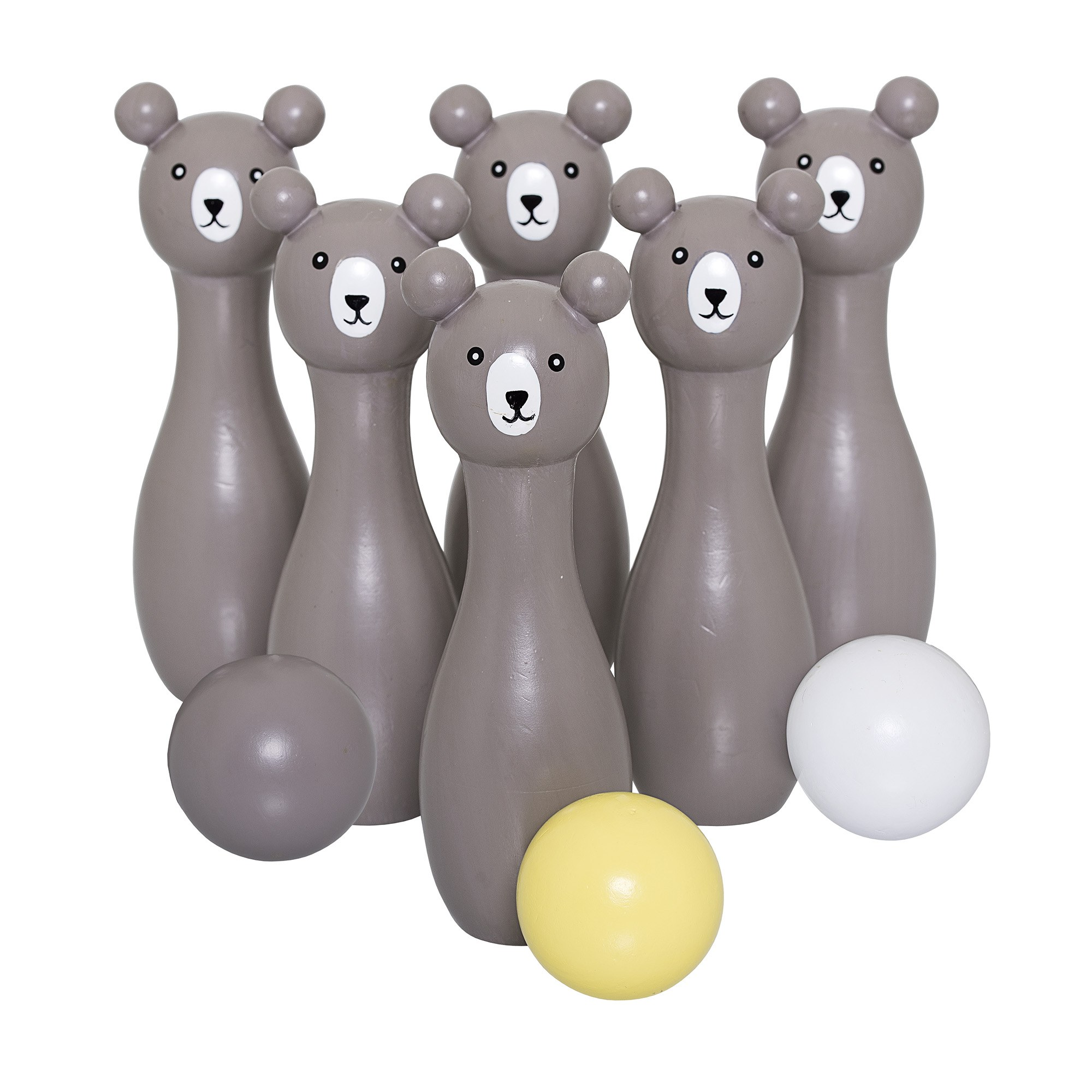 Image of   Play set, bowling, grey, lotus