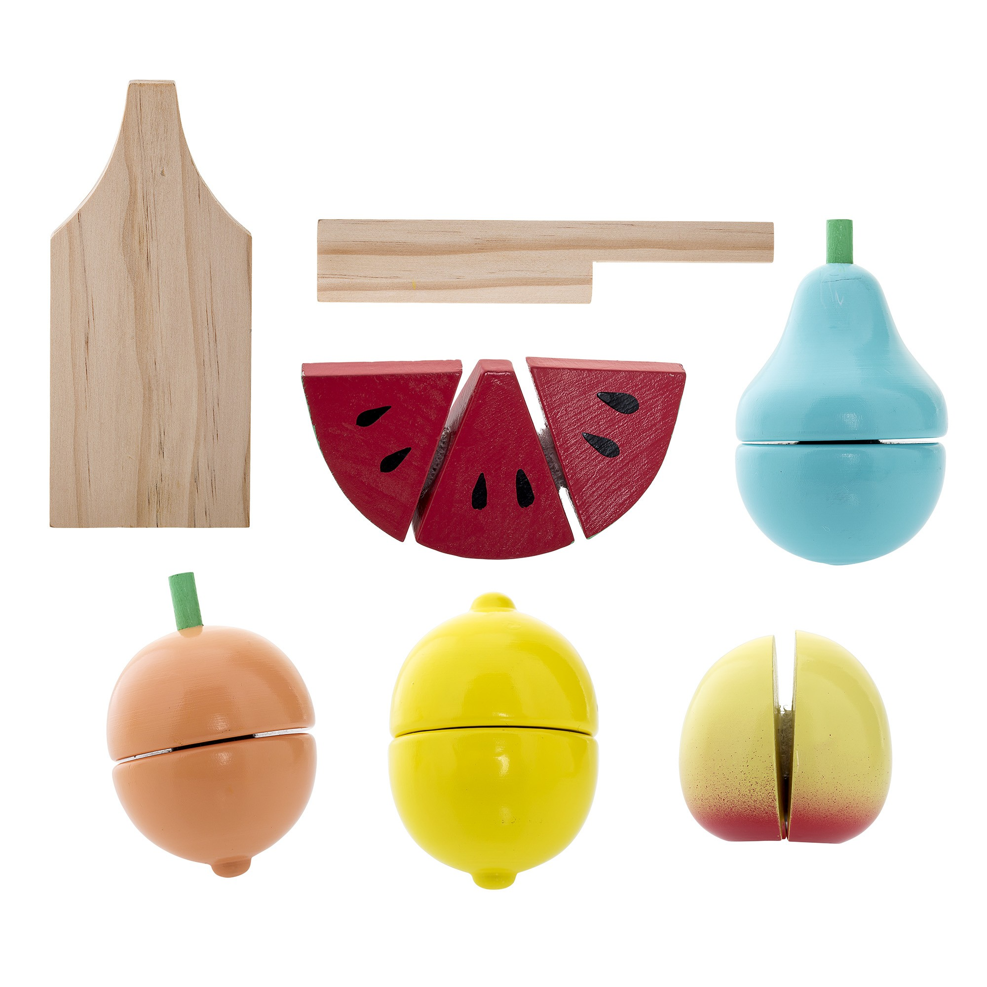 Image of   Play set, fruit, multi-color, wood