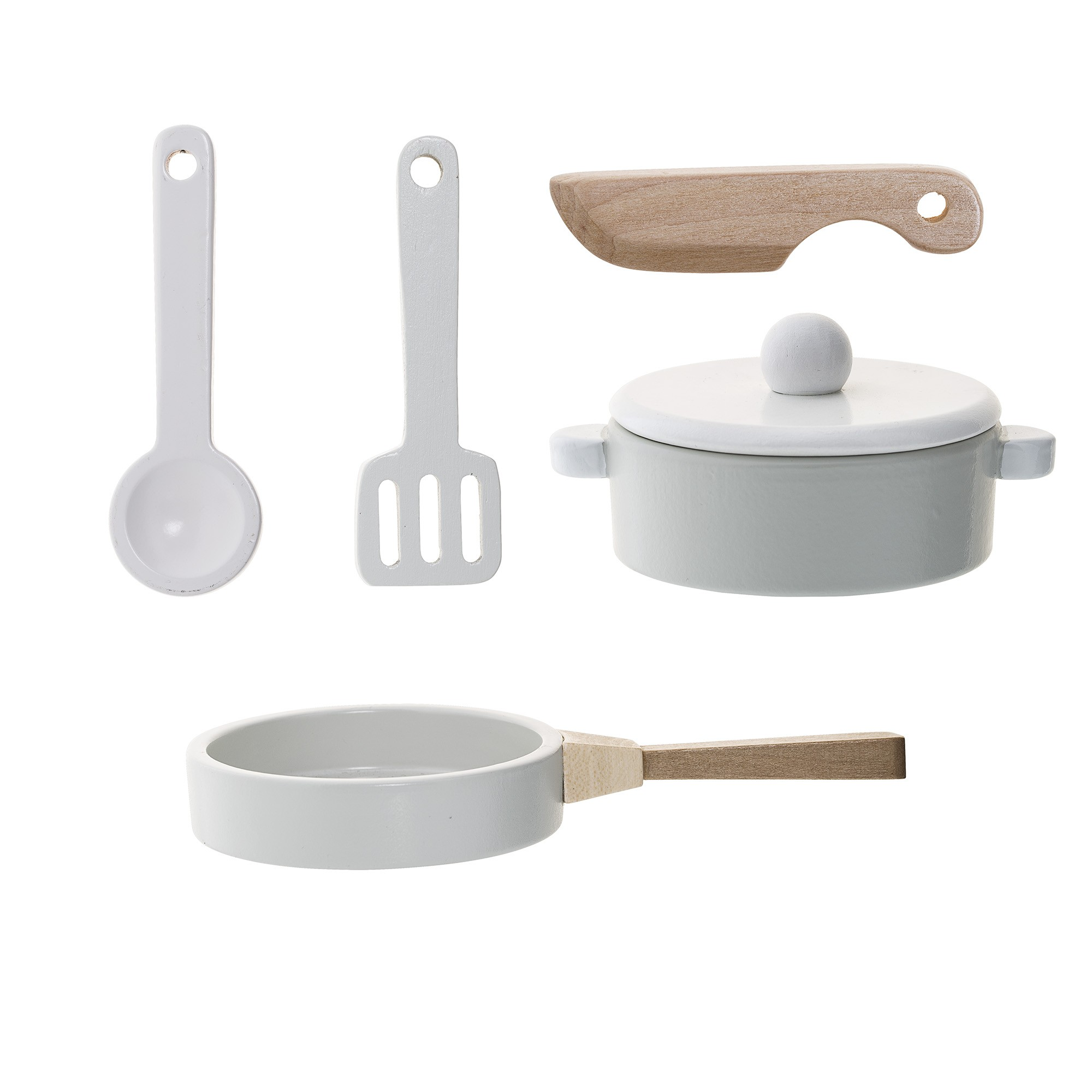 Image of   Play set, kitchen, nature/white/grey, set of 5