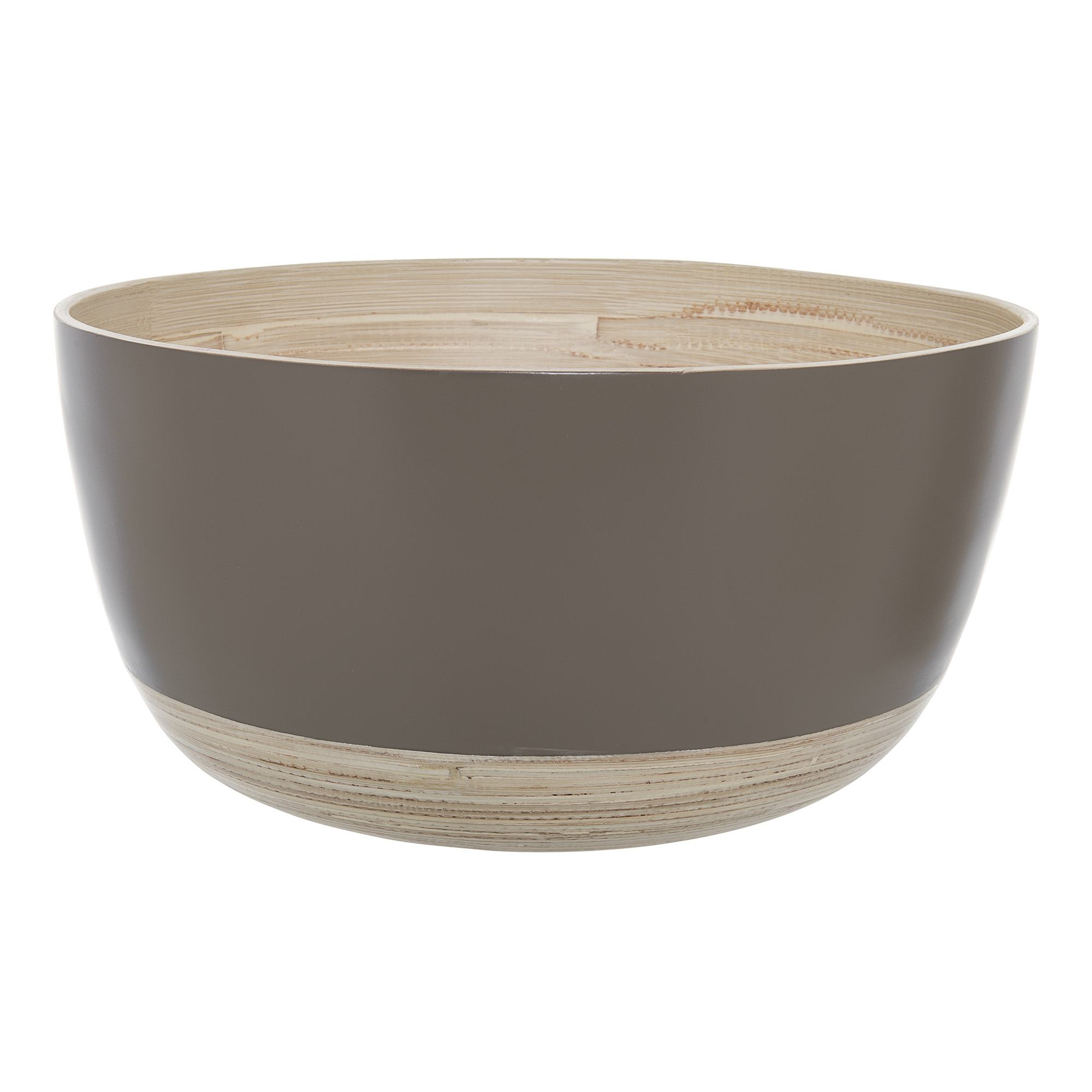 Image of   Serving bowl, brown, bamboo
