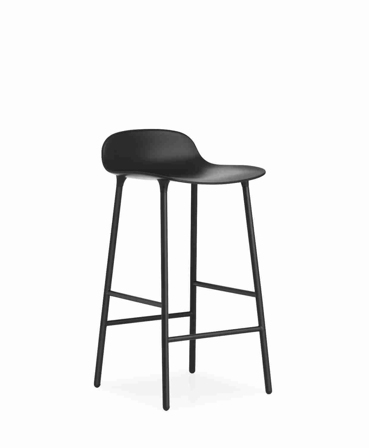 Image of   Normann copenhagen form barstol 65 cm stål (sort)