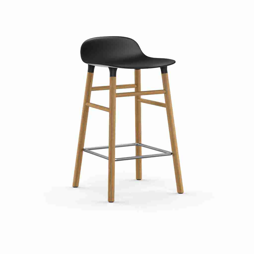 Image of   Normann copenhagen form barstol 65 cm eg (sort)