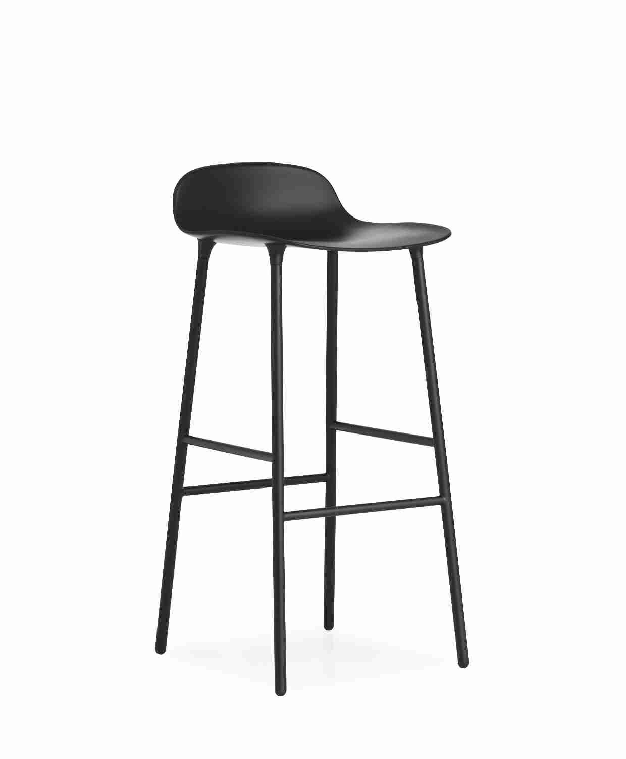 Image of   Normann copenhagen form barstol 75 cm stål (sort)
