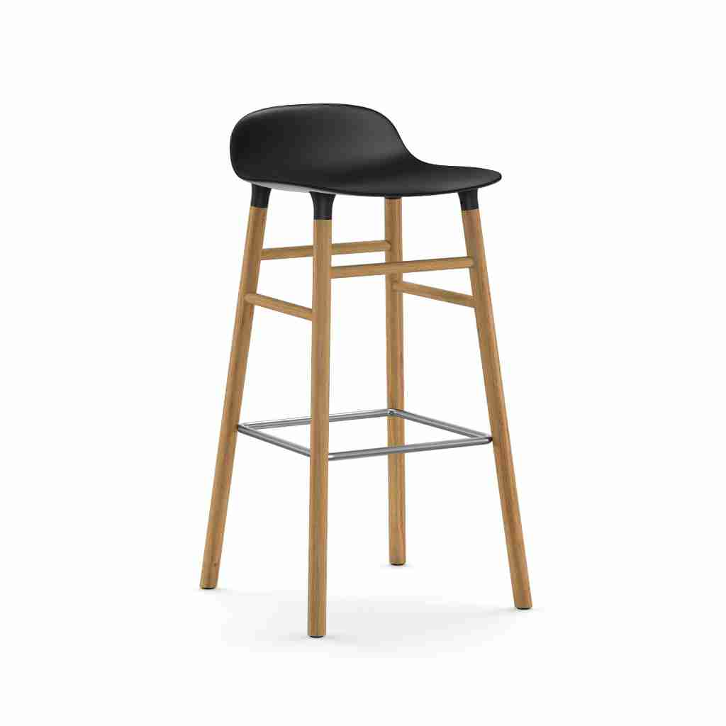 Image of   Normann copenhagen form barstol 75 cm eg (sort)