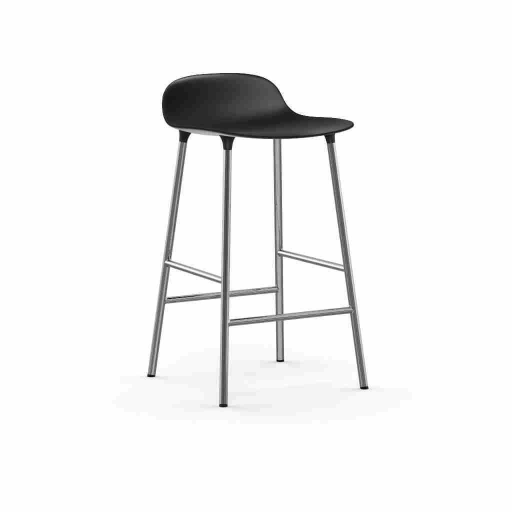 Image of   Normann copenhagen form barstol 65 cm krom (sort)