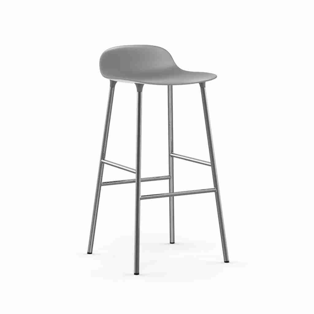 Image of   Normann copenhagen form barstol 75 cm chrome (grey)