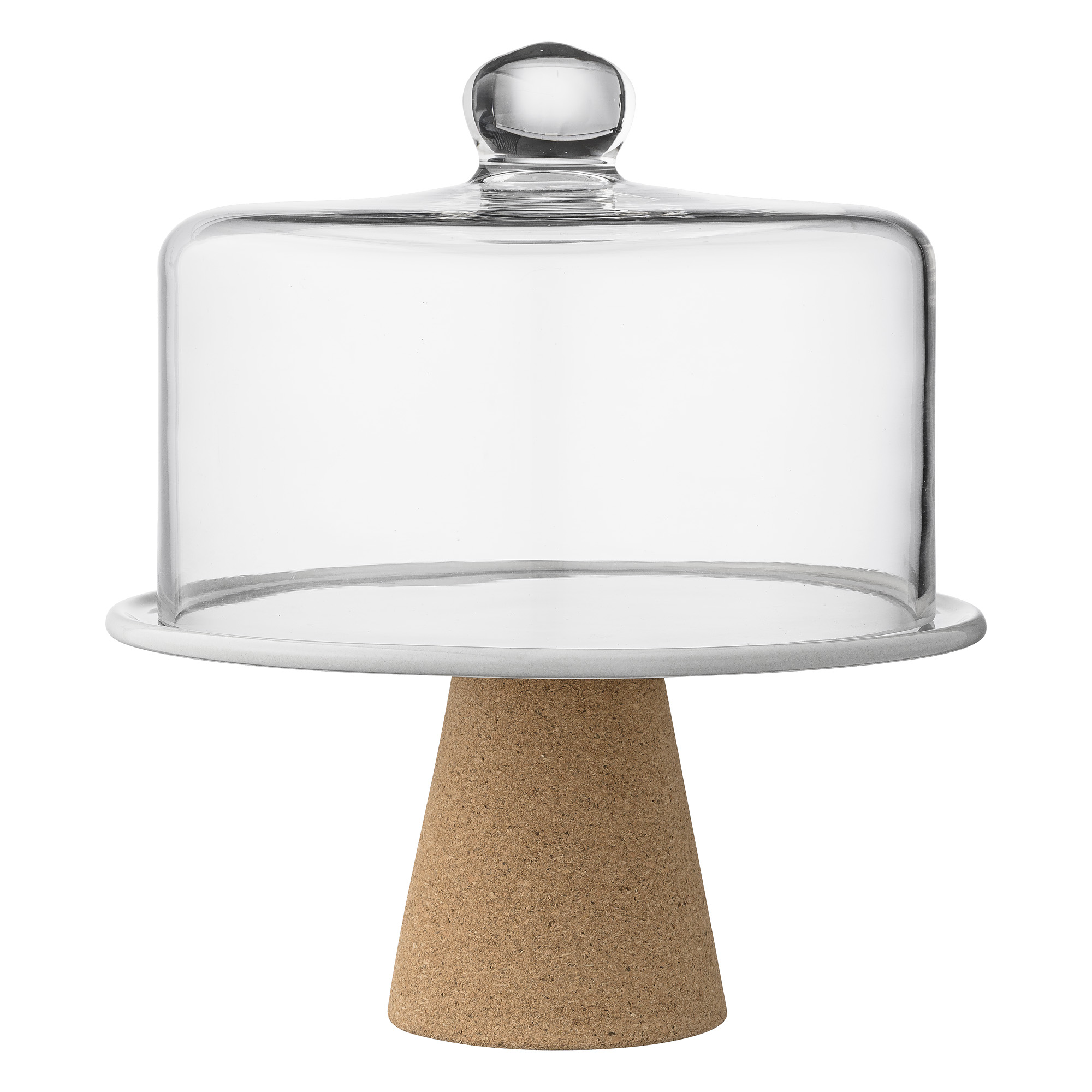 Image of   Cakestand, grey, glass