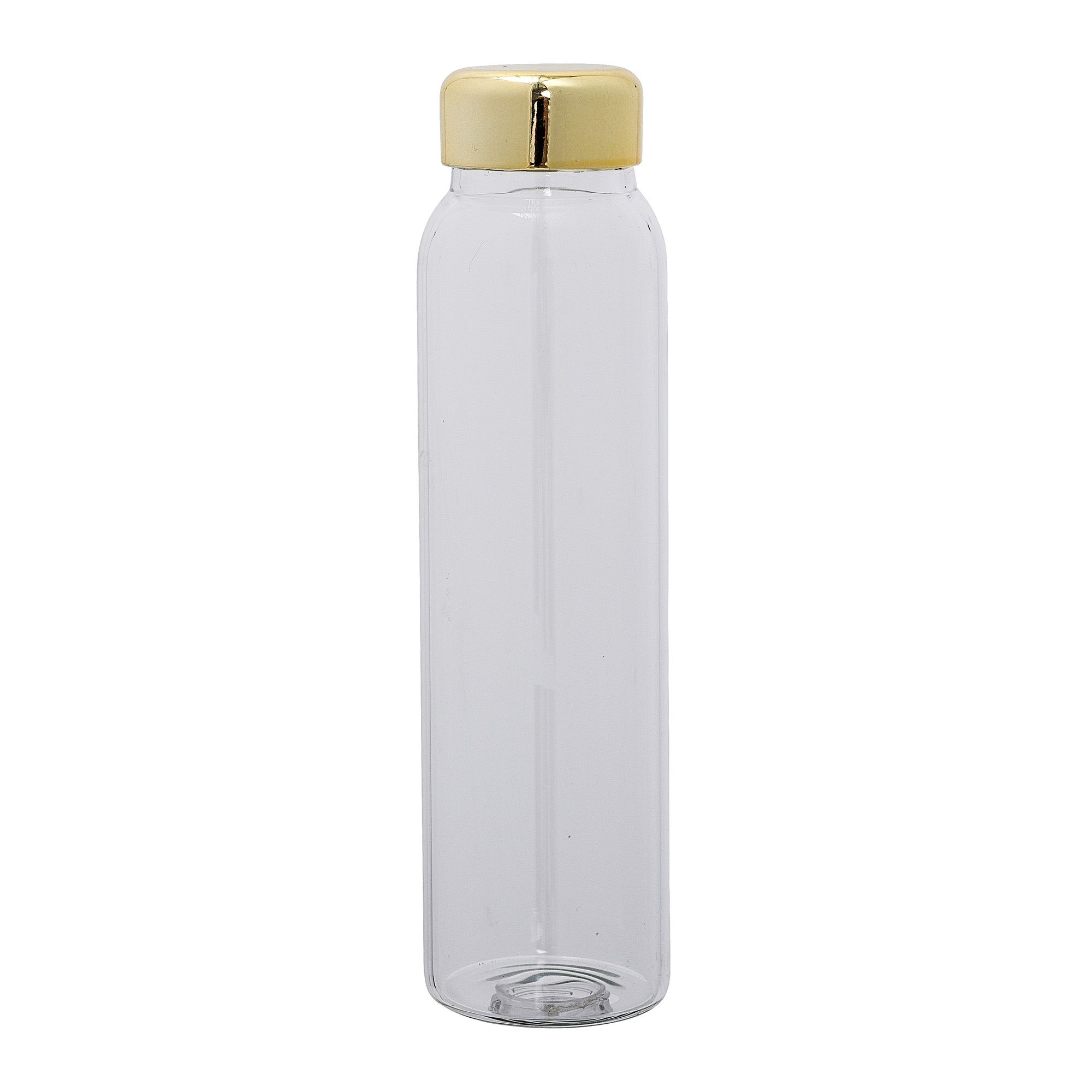 Image of   Bottle w/lid, clear, glass