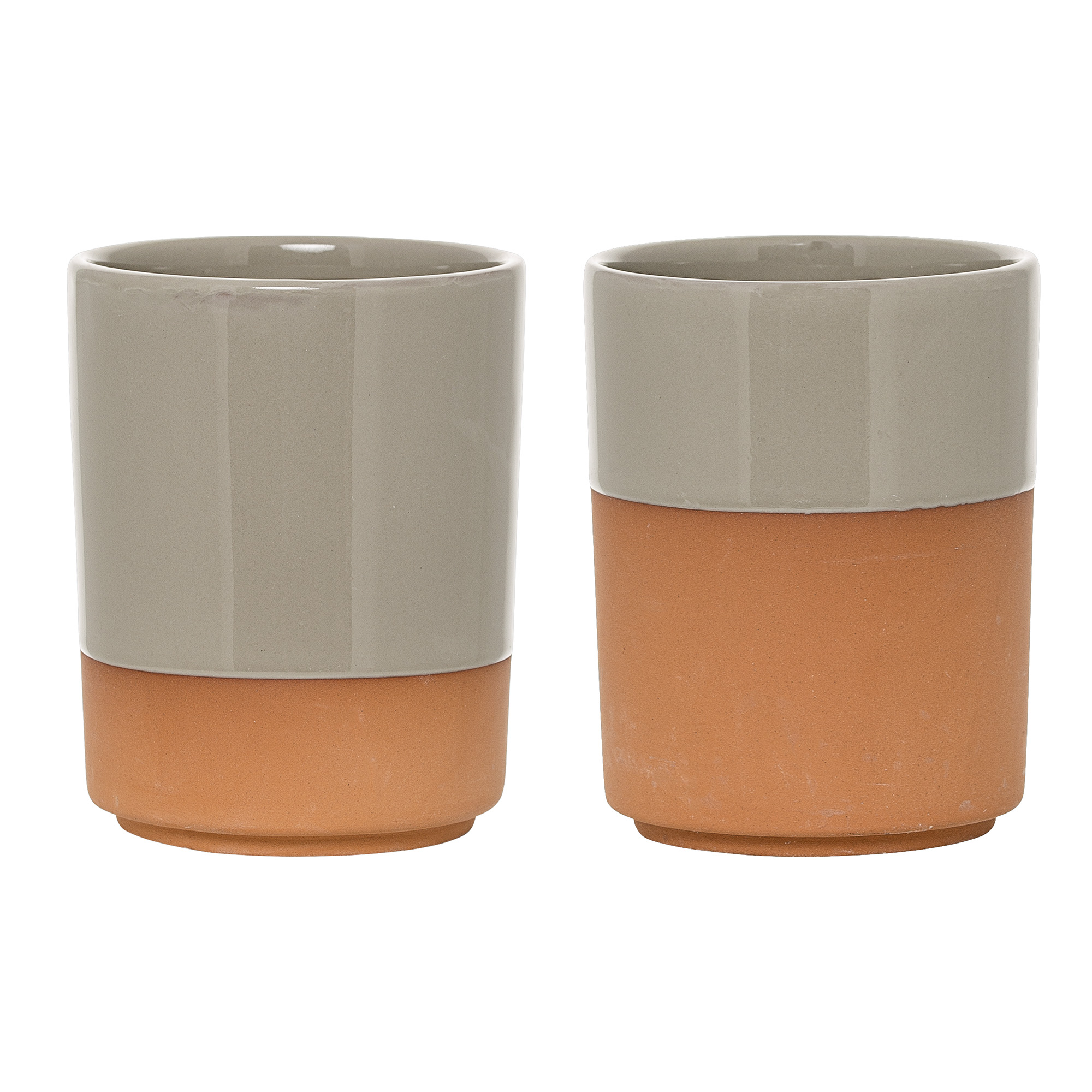 Image of   Cup, terracotta/grey