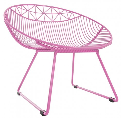 Image of   You lounge metalstol (pink/stor)
