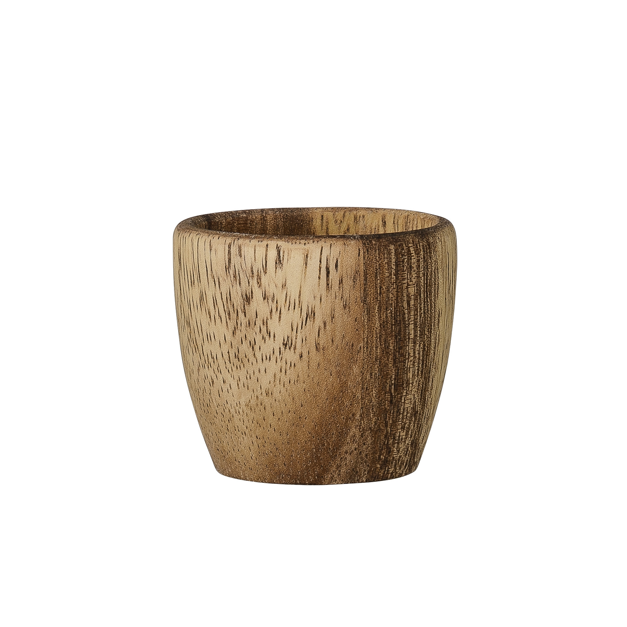 Image of   Egg cup, brown, acacia