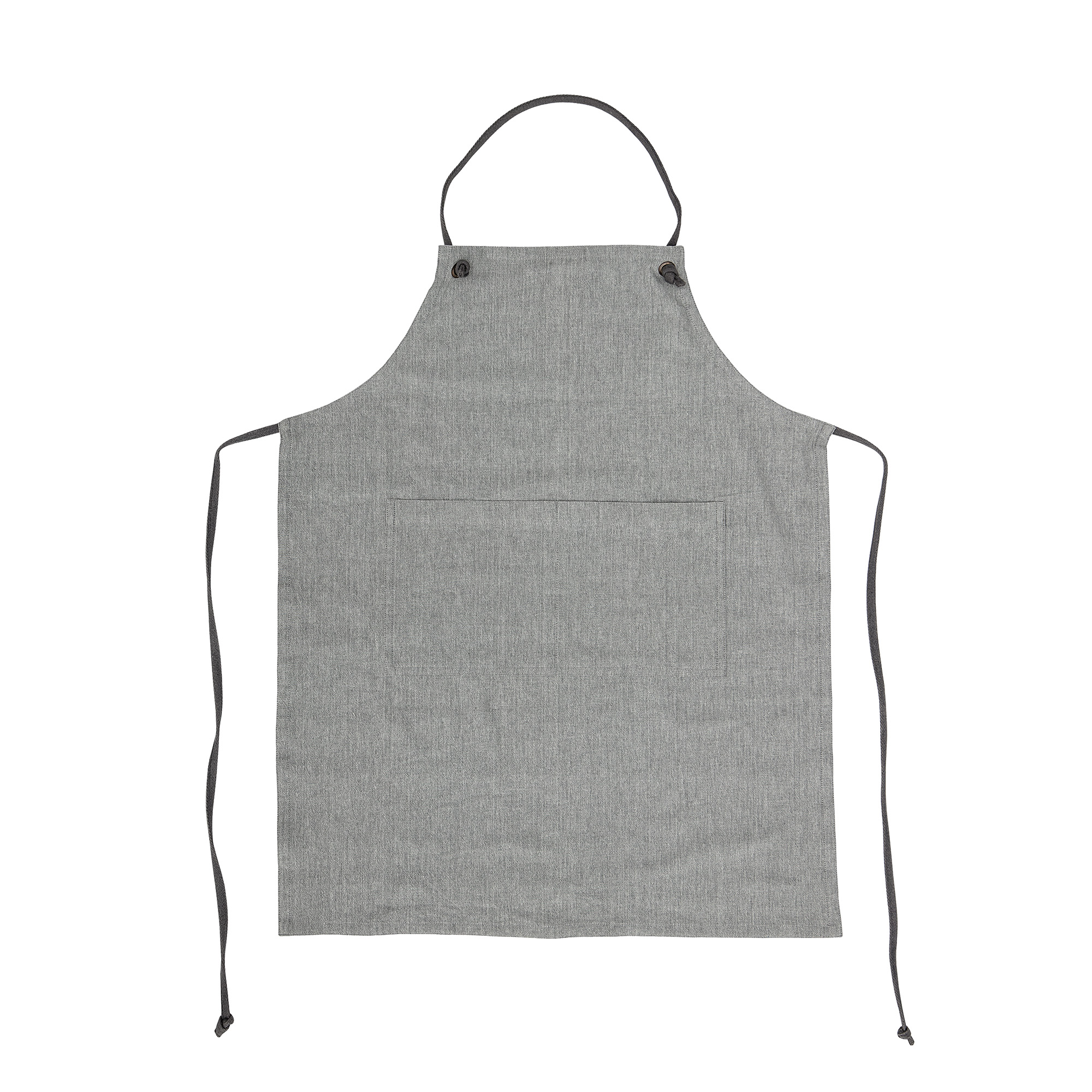 Image of   Apron, grey, cotton