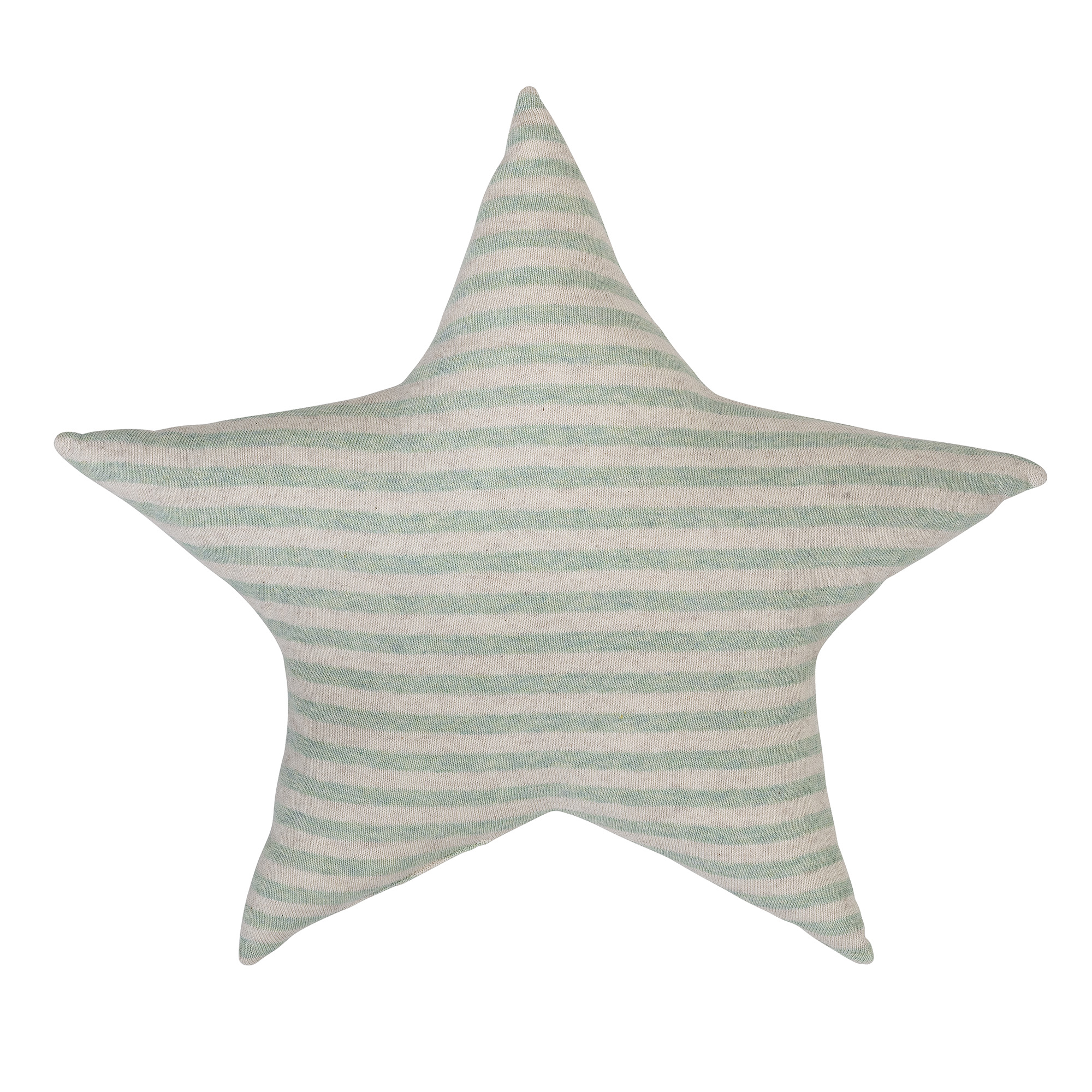 Image of   Cushion, knitted, off white/mint