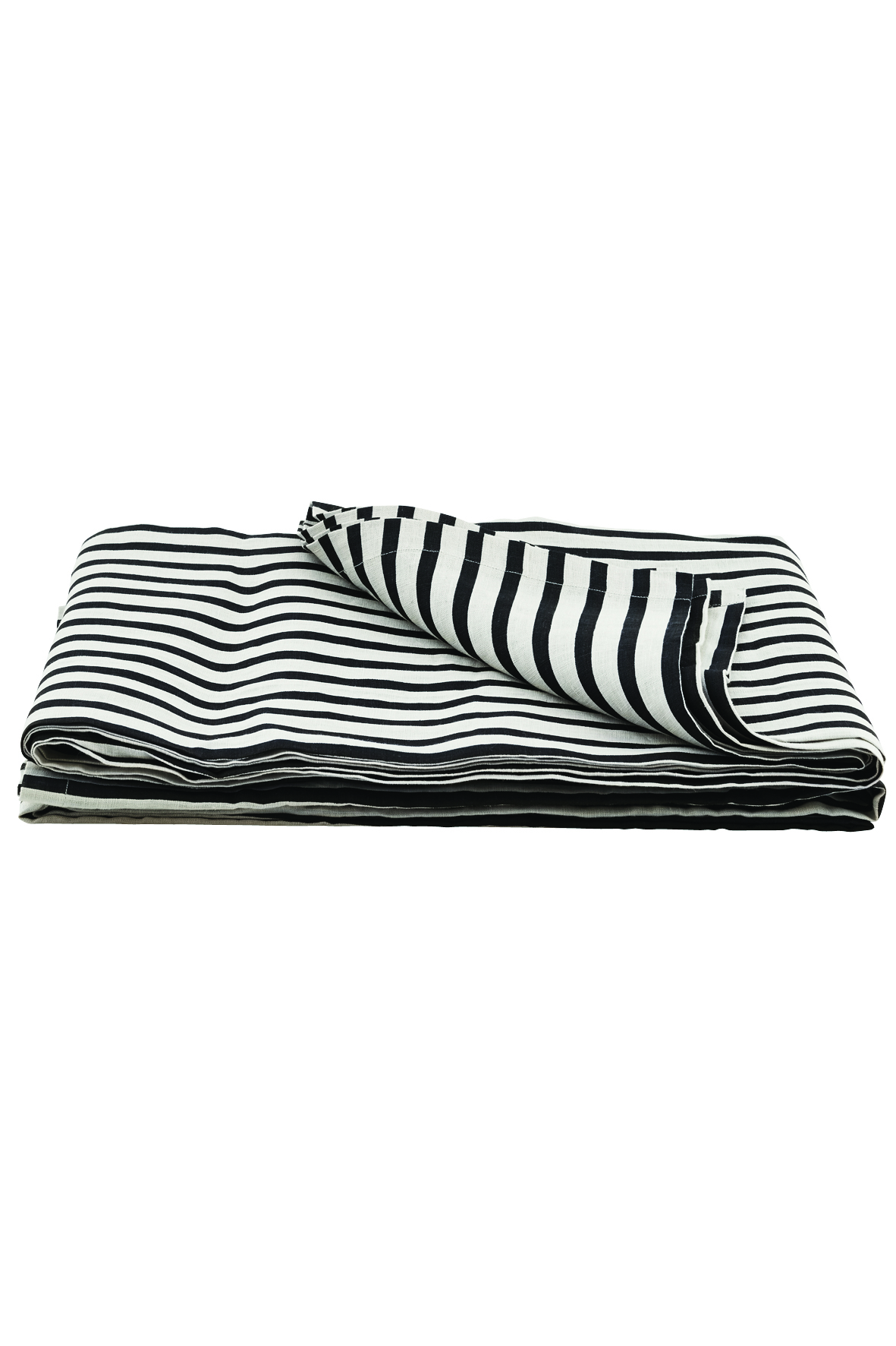 Image of   House doctor tæppe stripe sort/grå 250x220 cm