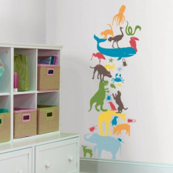 WALLSTICKER (ANIMAL TOWER)