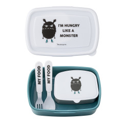 Lunchbox w/Cutlery, Blue, Plastic