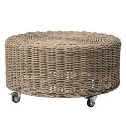 Kubu Rattan Table, Braided Nature