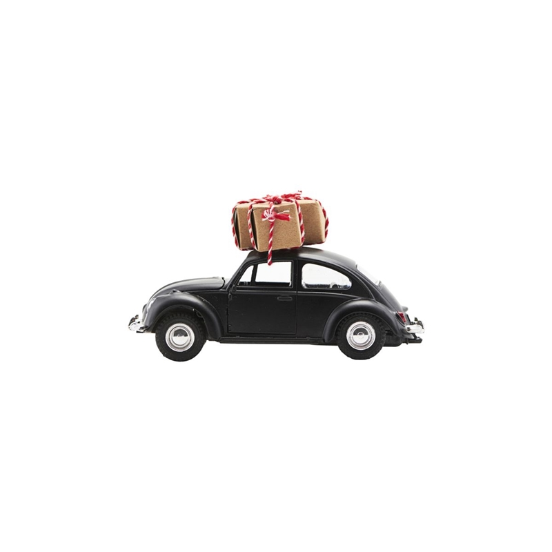 Image of   House doctor dekoration xmas car sort (12,5 cm)