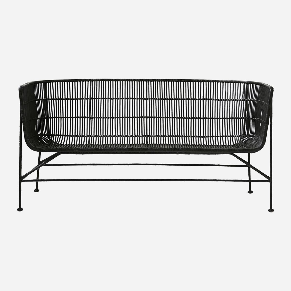 Image of   House doctor sofa coon sort siddehøjde 36 cm l140 cm b65,5 cm h70 cm